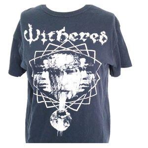 Withered - metal doom band shirt tour tee